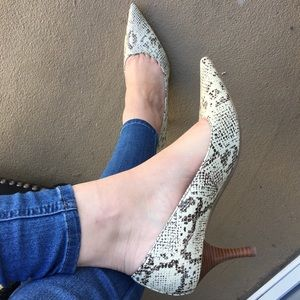 Enzo Angiolini Snake Print Heels